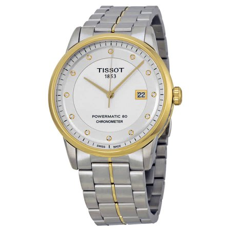 Luxury Automatic Diamond Silver Dial Two-Tone Stainless Steel Mens Watch T0864082203600