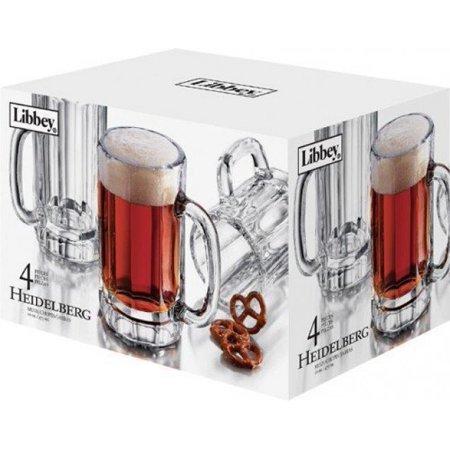 Libbey 4-Piece Heidelberg Beer Mug Set by