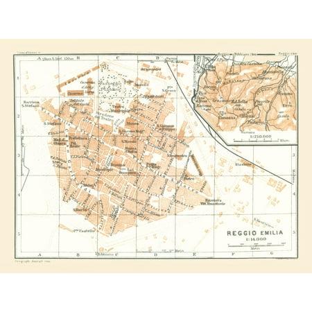 International Map Reggio Emilia Italy Bertarelli 1914 30 60