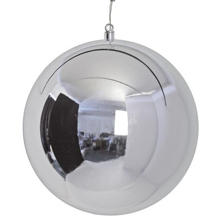 Autograph Foliages J-171110 19.5 in. Shiny Ball Ornament, Silver ()