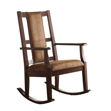 Groovy Kingfisher Lane Rocking Chair In Brown And Espresso Squirreltailoven Fun Painted Chair Ideas Images Squirreltailovenorg