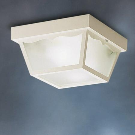 Kichler Outdoor Ceiling Light - Kichler Outdoor Plastic Fixtures 9322 Outdoor Ceiling - 10.5 in.