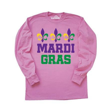 Mardi Gras Fleur de Lis trio Long Sleeve T-Shirt](Kids Mardi Gras Shirts)