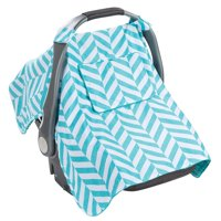 Summer Infant Little Looks Car Seat Cover, Carrier Canopy, Blue Chevron