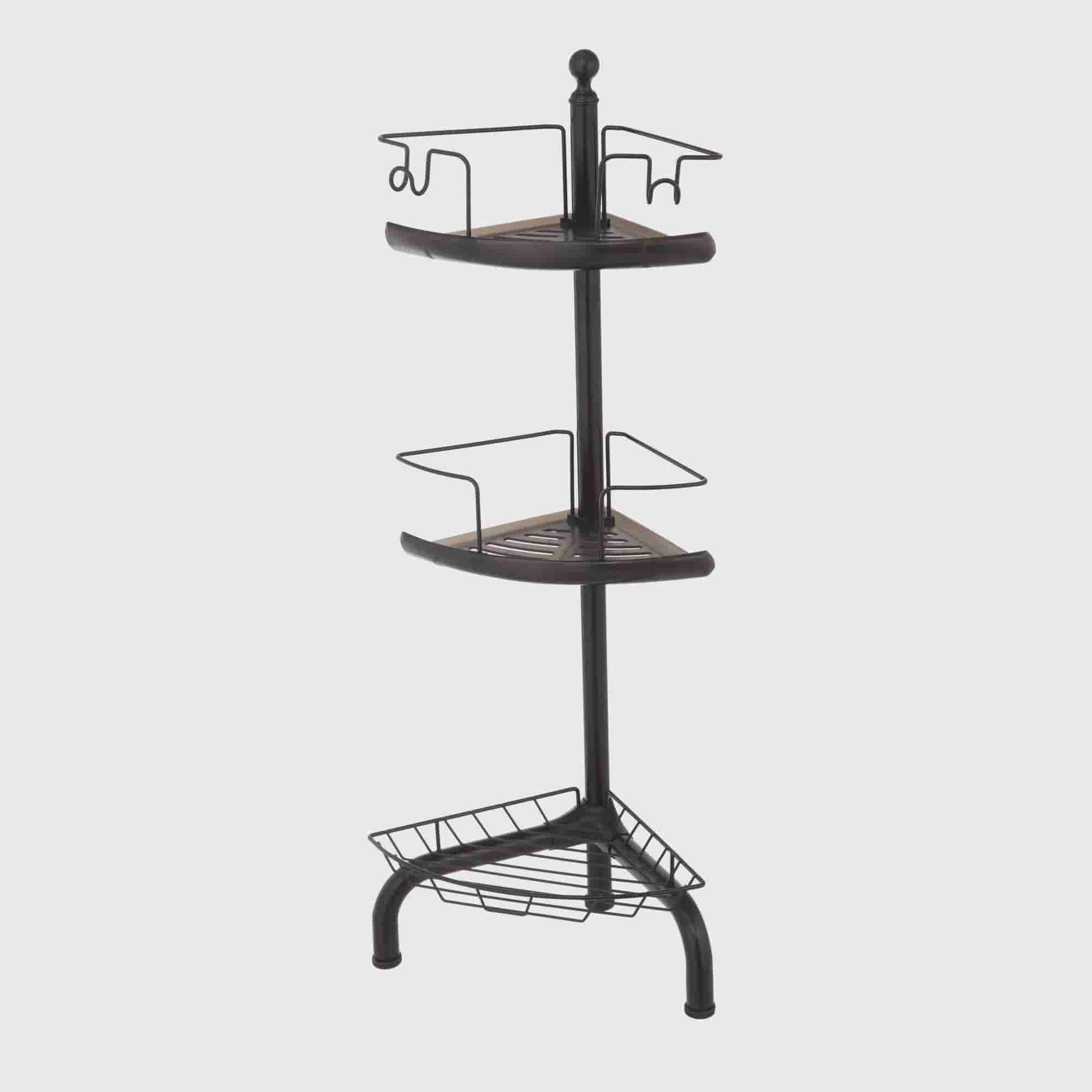 HomeZone 3 Tier Adjustable Corner Shower Caddy, Oil Rubbed Bronze    Walmart.com