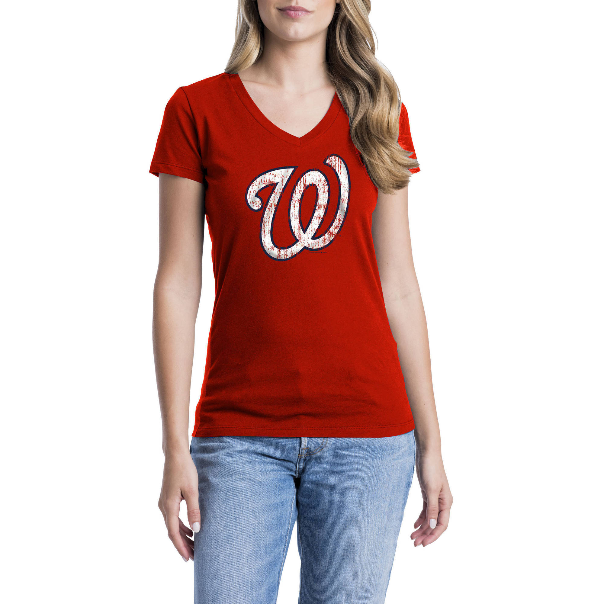 Washington Nationals Womens Short Sleeve Graphic Tee