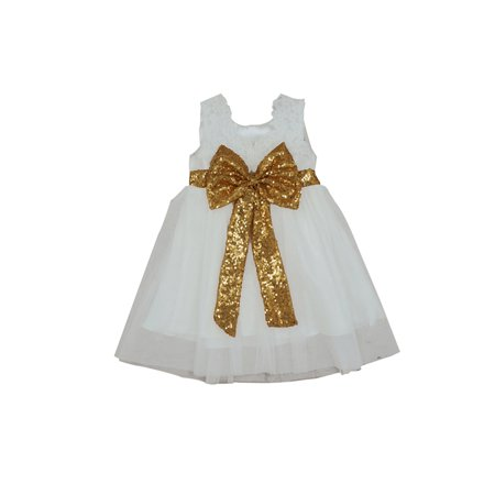 BOBORA Infant Girl Lace Bow Party Princess Tutu - Infant Couture Dresses