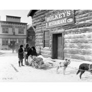 Stretched Canvas Art - Dog Sled. /Nstill From The 1928 Mgm Motion Picture  'Trail Of '98.' - Large 24 x 36 inch Wall Art Decor Size.