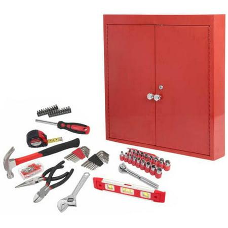 (Hyper Tough 151-Piece Hand Tool Set, Metal Wall Cabinet)