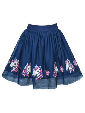 Girls Skirt Blue Heart Sequins Sparkling Tutu Dancing 2-3