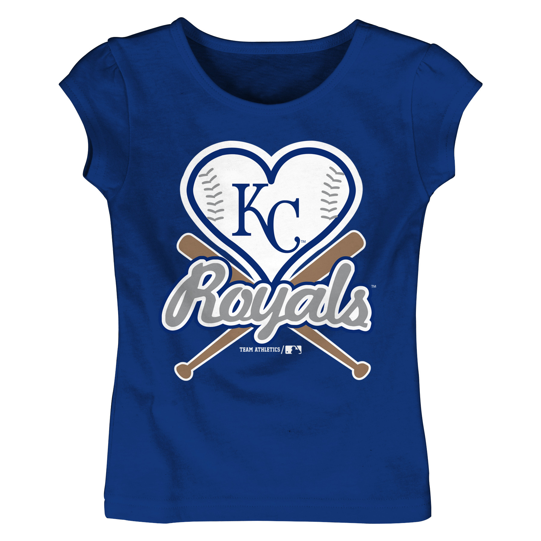 MLB Kansas City ROYALS TEE Short Sleeve Girls Cotton Jersey Team Color 12M-4T