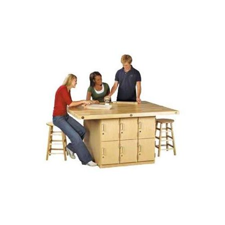Shain 4 Station Workbench 12 Lockers  picture