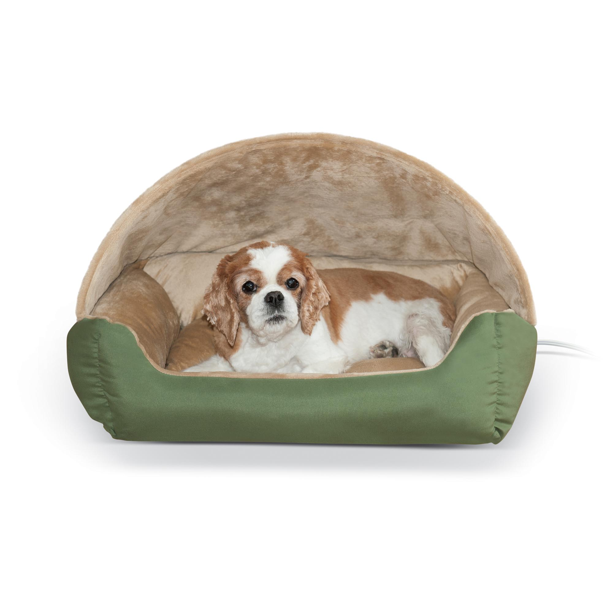K&H Thermo-Hooded Lounger Bed