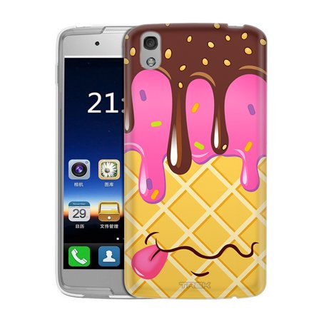 Alcatel Idol 4 Case  Snap On Cover By Trek Chocolate Strawberry Ice Cream Cone Slim Case
