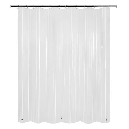 Mainstays Basic Light Weight Peva Solid Shower Curtain Liner Clear 70 X 71 Walmart Com Walmart Com