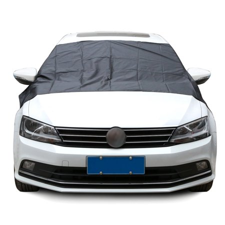 Car SUV Magnet Windshield Cover Sun Shield Snow Ice Frost Freeze Protector Black Silver For VW /BMW /Honda /Toyota ()