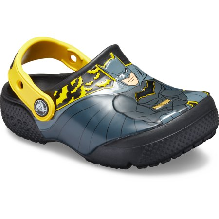 Crocs Boys' Junior Fun Lab Iconic Batman Clog ()