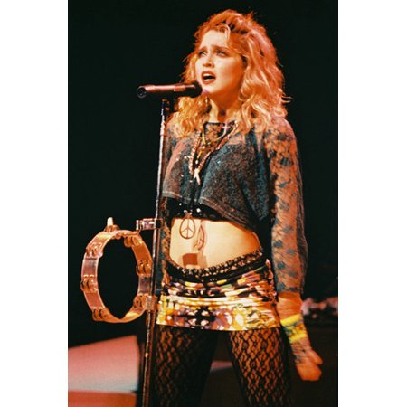 Madonna 24x36 Poster Like A Virgin in concert pose with tambourine & cross