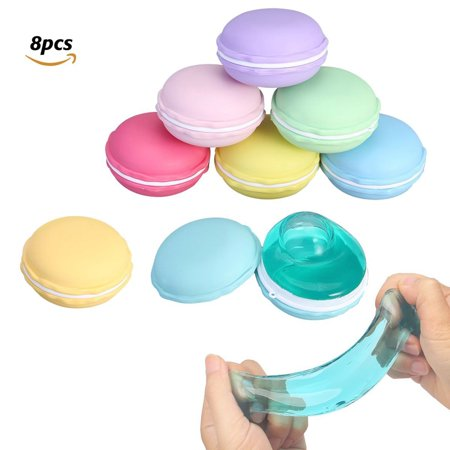 Slime Macaroon Kit Jelly Toy Crystal Mud Clay Soft Squeeze Squishy Pudding Toy For Kids Education 8pcs
