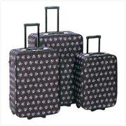 Sunrise Wholesale 12930 3Pieces Stylish Skull Crossbones Design Travel Luggage Bags