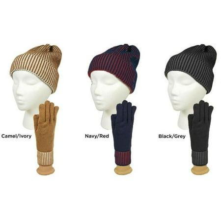 JRHELLER - Sag Harbor Women s Two Tone Knit Beanie   Gloves S Case Pack 48  - Walmart.com 8c6b7afa395