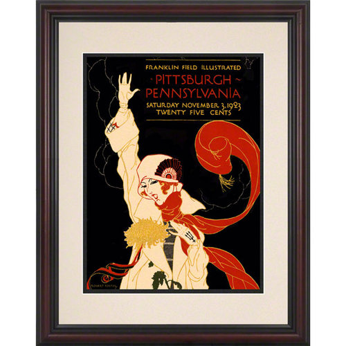 NCAA - 1923 Pennsylvania Quakers vs. Pittsburgh Panthers 8 1/2 x 11 Framed Historic Football Poster