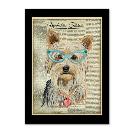 Trademark Fine Art 'Yorkshire Terrier' Canvas Art by Jean Plout
