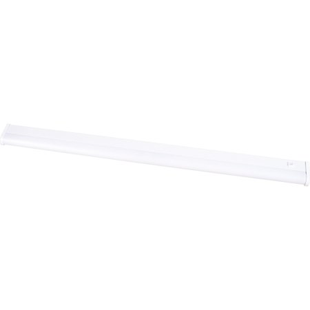 "Progress Lighting P7023 Hide-A-Lite III 42"" Two-Light Energy Star Qualified Low Profile Undercabinet Fluorescent Fixture with White Acrylic Diffuser"