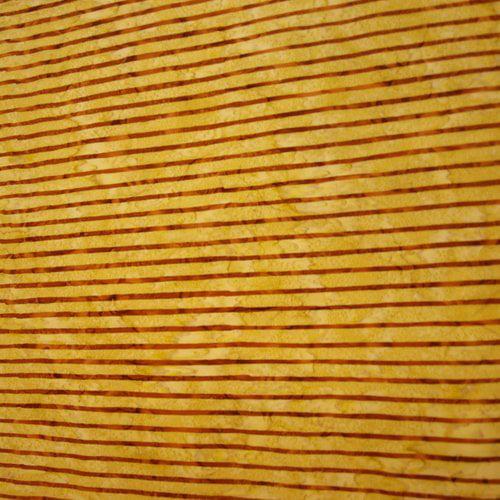 Handmade Indonesian Batiks Quilting Batik, Gold Stripe