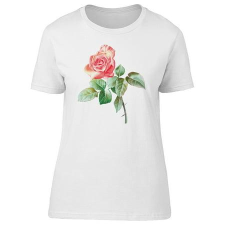 Cute Pink Vintage Rose Flower Tee Women's -Image by - Floor Shift