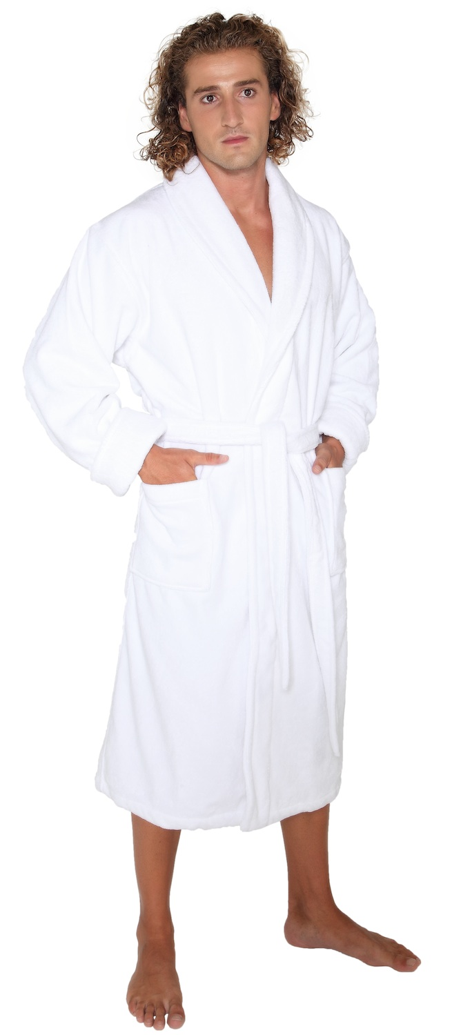 menu0027s deluxe terry cloth turkish cotton thick hotel bathrobe robe walmartcom - Terry Cloth Robe