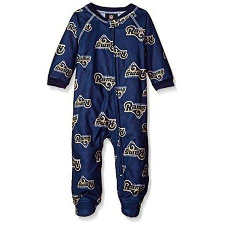 NFL Infant St.Louis Rams Sleepwear All Over Print Zip Up - Children's Mechanic Coveralls