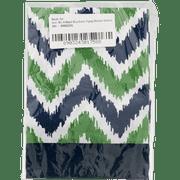 Bacati Window Valance Mix N Match Blue/Green Zigzag, 1.0 CT
