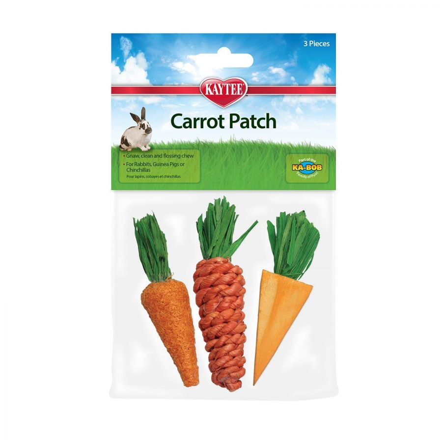 "Kaytee Carrot Patch Chew Toys 3 Pack - (3""-4"" Long) - Pack of 2"