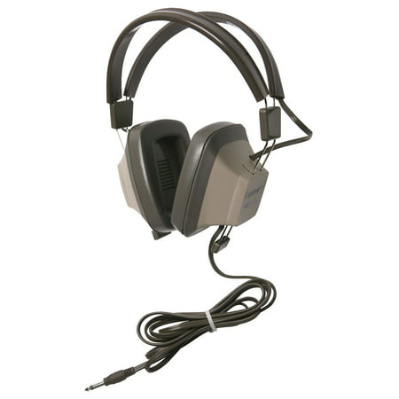 Califone Eh-1 Explorer Binaural Headphones 1/4 Connector Light Grey/beige (Califone Audio)