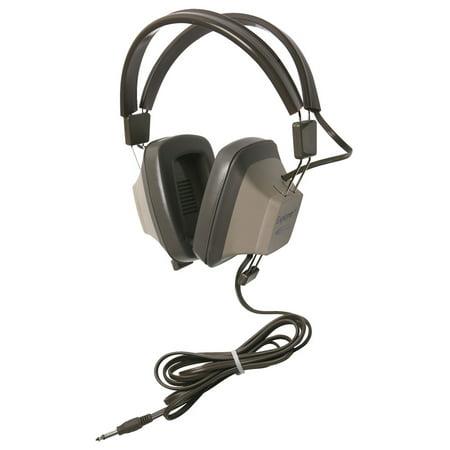 Califone Eh-1 Explorer Binaural Headphones 1/4 Connector Light Grey/beige Eh-1