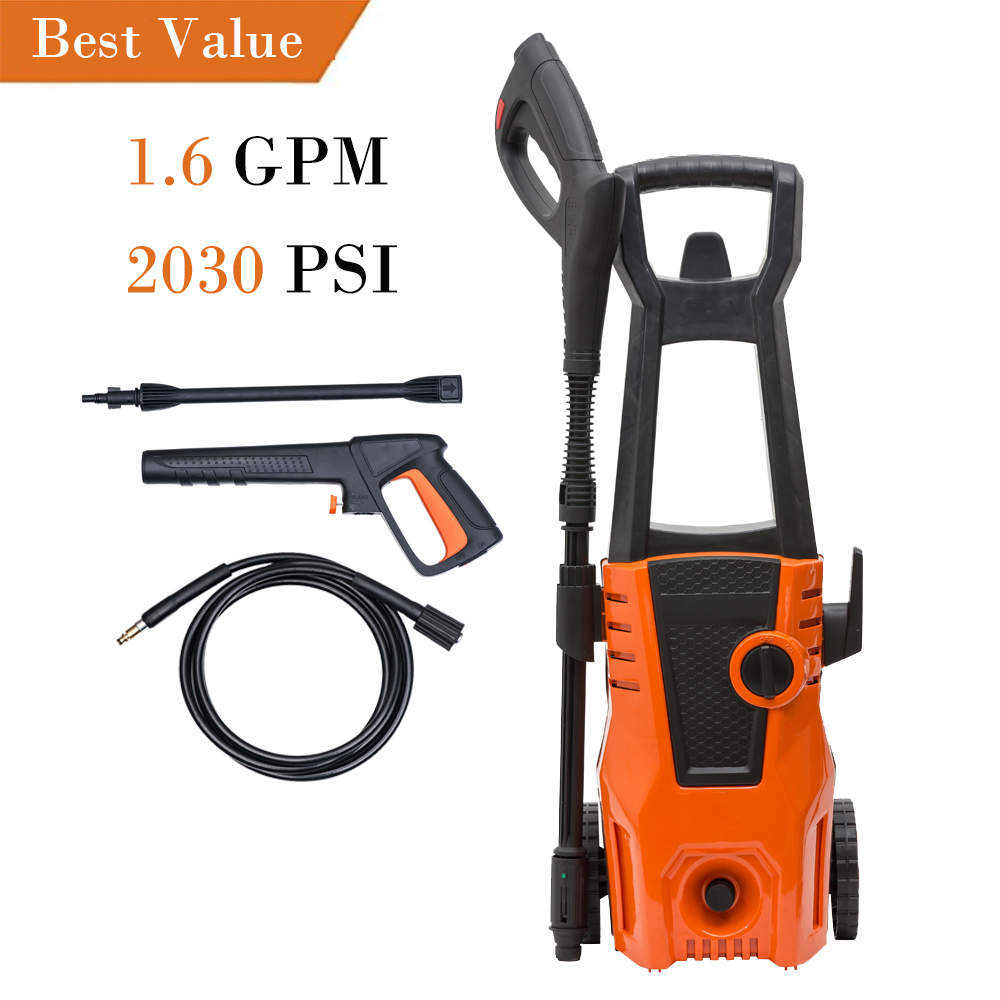 Zimtown 2030PSI Electric High Pressure Washer, Jet Water Washing Power Pressure Sprayer Cleaner Machine with Wash Brush and Hose Nozzle for Cleaning Car
