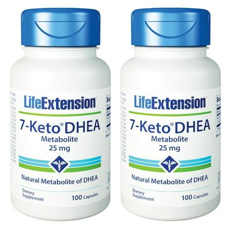 Life Extension 7-Keto DHEA Metabolite 25 Mg 100 Capsules (Pack of (Life Extension 7 Keto Dhea Metabolite 25 Mg)