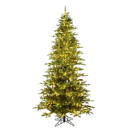 Vickerman K184381LED 9 ft. x 68 in. Kamas Fraser Fir Artificial Christmas Tree with 1000 Warm White Dura-Lit LED Light & 5783 Tip Count - image 1 de 1