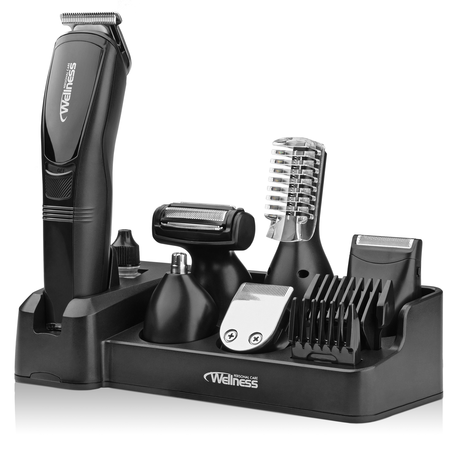Wellness Personal Care Pro Series Men's 8-in-1 Professional Rechargeable Grooming Kit