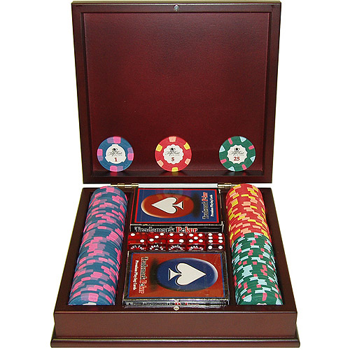 Trademark Poker 100 World Tophat & Cane Paulson Clay Chips With Mahogany Case