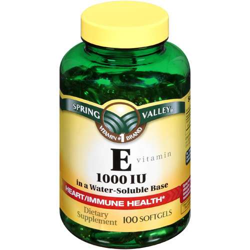 Spring Valley Dietary Supplement E, 100 ct