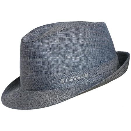 Stetson - Mens Linen Snap Brim Fedora Hat - Walmart.com 43741ee5689