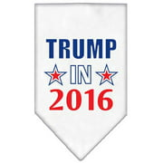 Mirage Pet 66-150 SMWT Trump in 2016 Election Screenprint Bandanas, White - Small