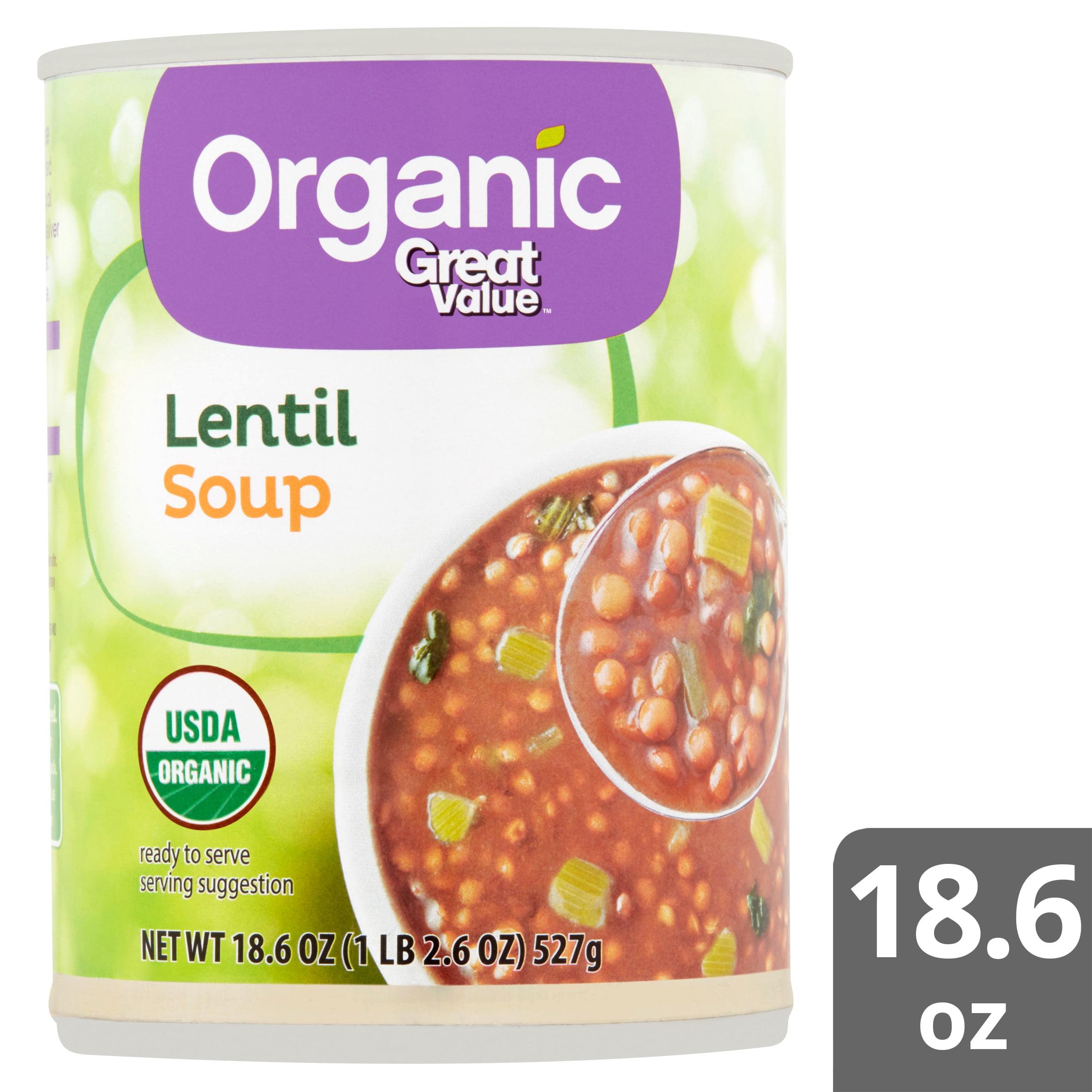 Organic Lentil Soup, 18.6 oz