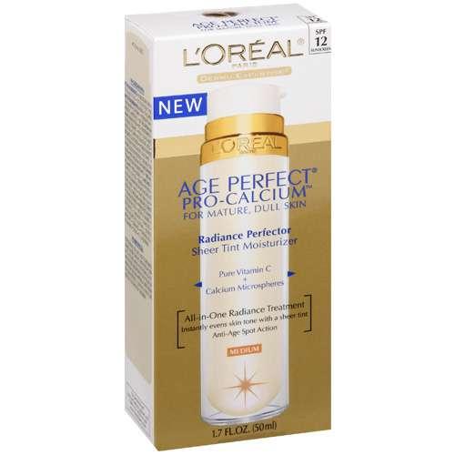 L'oreal Paris: Age Perfect Pro-Calcium For Mature Dull Skin With Medium Tint Facial Moisturizer, 1.70 fl oz