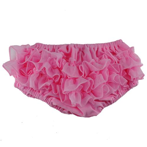 Reflectionz Baby Girls Pink Ruffle Cotton Diaper Cover Bloomers 3M