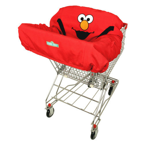 Sesame Strret  Fun Pads Elmo Shopping Cart & High Chair Cover Red