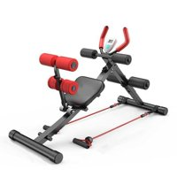 2 in 1 Multifunctional Weight Bench,Sit Up Bench,Ab Abdominal Crunch Ab Trainer Abdominal Exercise Machine/Equipment Home Ab Trainer with LCD Display