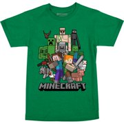 Minecraft All Aboard Youth T-Shirt Green